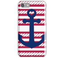 Nautical Patriotic Red White and Blue Anchor iPhone Case/Skin