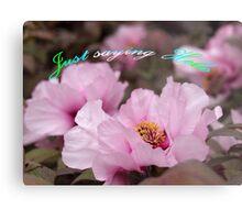 Pink Tree Peonies  Metal Print