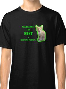 Warning I Am NOT A Morning Person Classic T-Shirt