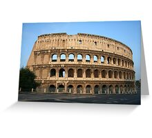 The Colosseum - An iconic symbol of Imperial Rome Greeting Card