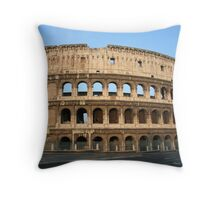 The Colosseum - An iconic symbol of Imperial Rome Throw Pillow