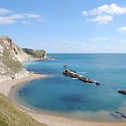 Man of War Bay - West Lulworth by Photography  by Mathilde