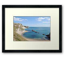 Man of War Bay - West Lulworth Framed Print