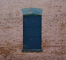 Blue boarded up window by Dian  Squire