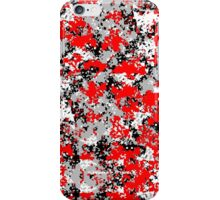 Red/Black/White/Gray Digital Camouflage iPhone Case/Skin