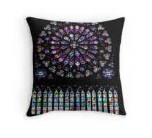 Notre Dame Rose Window Throw Pillow
