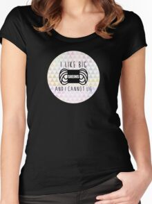 i like big skeins and i cannot lie funny yarn knit crochet Women's Fitted Scoop T-Shirt