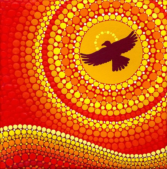 sun illuminating eagle spirit medicine by Elspeth McLean