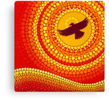 sun illuminating eagle spirit medicine Canvas Print