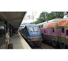 662 Amtrak Regional and 1706/1050 MBTA Commuter Rail Photographic Print