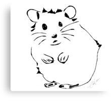 Hamster Minimalist Sketch  Canvas Print