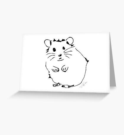 Hamster Minimalist Sketch  Greeting Card