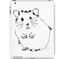 Hamster Minimalist Sketch  iPad Case/Skin