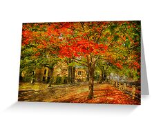 First signs of fall  II Greeting Card