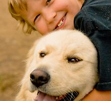 Boy and his dog by Sean McConnery