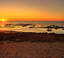 Sunrise at Heron Point, Exmouth Gulf, WA by BigAndRed
