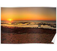 Sunrise at Heron Point, Exmouth Gulf, WA Poster