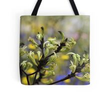 Green Kangaroo Paw Tote Bag