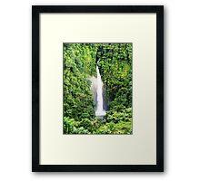 Breathtaking waterfall Framed Print