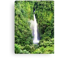 Breathtaking waterfall Canvas Print