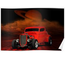 1934 Ford Coupe Street Rod Poster