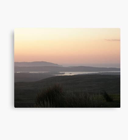 Soft evening light - Towards Downings Donegal  Ireland  Canvas Print