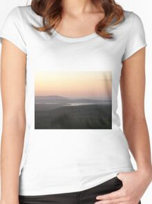 Soft evening light - Towards Downings Donegal  Ireland  Women's Fitted Scoop T-Shirt