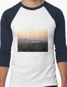 Soft evening light - Towards Downings Donegal  Ireland  Men's Baseball ¾ T-Shirt