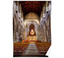 Looking Toward the Choir, Ripon Cathedral Poster