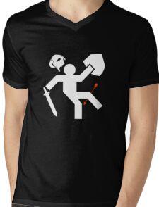 Arrow to the Knee Mens V-Neck T-Shirt