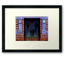 Mortuary Doors Framed Print
