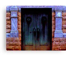 Mortuary Doors Canvas Print