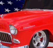 Patriotic 55 Chevy Sticker
