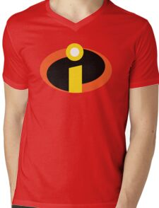 The Incredibles Logo Mens V-Neck T-Shirt