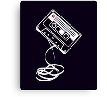 Cassette Tape Audio Analog Old School Music Geek Vintage Design Canvas Print