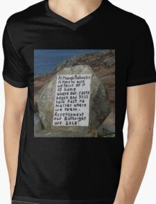Painted Rock in NL Mens V-Neck T-Shirt