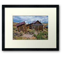Bodie CA, The Wind Gets Pretty Strong Around Here Framed Print