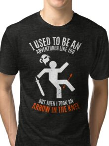 Arrow In the Knee 2.0 Tri-blend T-Shirt