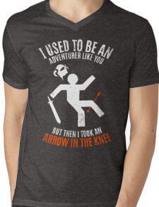 Arrow In the Knee 2.0 Mens V-Neck T-Shirt