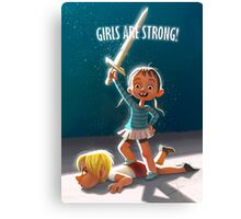 Girls are Strong! Canvas Print