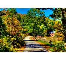 Country Road in Autumn Photographic Print