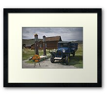 Bodie CA The Old Bodie Shell Station Framed Print
