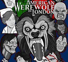American Werewolf in London original collage art by gjnilespop