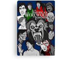 American Werewolf in London original collage art Canvas Print
