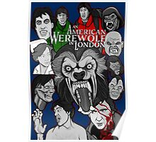 American Werewolf in London original collage art Poster