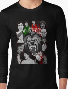 American Werewolf in London original collage art Long Sleeve T-Shirt