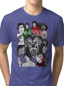American Werewolf in London original collage art Tri-blend T-Shirt