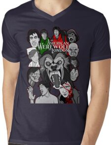 American Werewolf in London original collage art Mens V-Neck T-Shirt