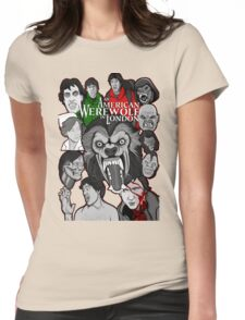 American Werewolf in London original collage art Womens Fitted T-Shirt