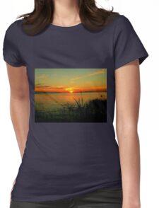 Lake Manitoba Sunrise Womens Fitted T-Shirt